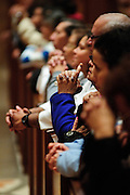Parishioners attend a mass at Holy Name Cathedral honoring the Puerto Rican Catholic community and Maria, Madre de la Divina Providencia, patroness of the Carribean Island commonwealth. November 18, 2011 l Brian J. Morowczynski~ViaPhotos..For use in a single edition of Catholic New World Publications, Archdiocese of Chicago. Further use and/or distribution may be negotiated separately. ..Contact ViaPhotos at 708-602-0449 or email brian@viaphotos.com.