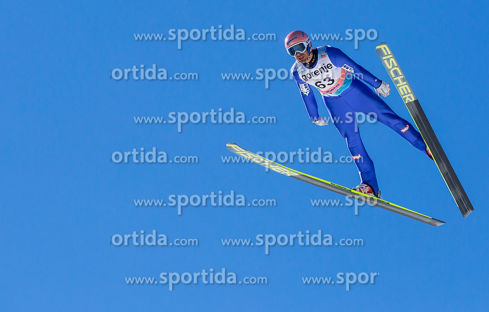 KOFLER Andreas of Austria soaring through the air during Large Hill Individual Qualification Event at 1st day of FIS Ski Jumping World Cup Finals Planica 2014, on March 20, 2014 in Planica, Slovenia. Photo by Vid Ponikvar / Sportida