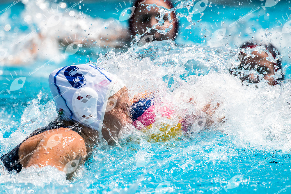 HALLENDORFF Amica RSA<br /> RSA (white cap) -  USA (blue cap)<br /> Preliminary Round Water Polo<br /> Day03  16/07/2017 <br /> XVII FINA World Championships Aquatics<br /> Alfred Hajos Complex Margaret Island  <br /> Budapest Hungary July 15th - 30th 2017 <br /> Photo @ Deepbluemedia/Insidefoto