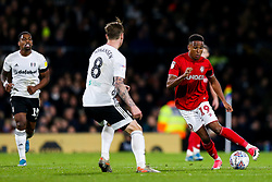 Niclas Eliasson of Bristol City is challenged by Stefan Johansen of Fulham - Rogan/JMP - 07/12/2019 - Craven Cottage - London, England - Fulham v Bristol City - Sky Bet Championship.