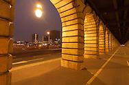 France. Paris. Seine river bridges. bercy bridge on the seine river