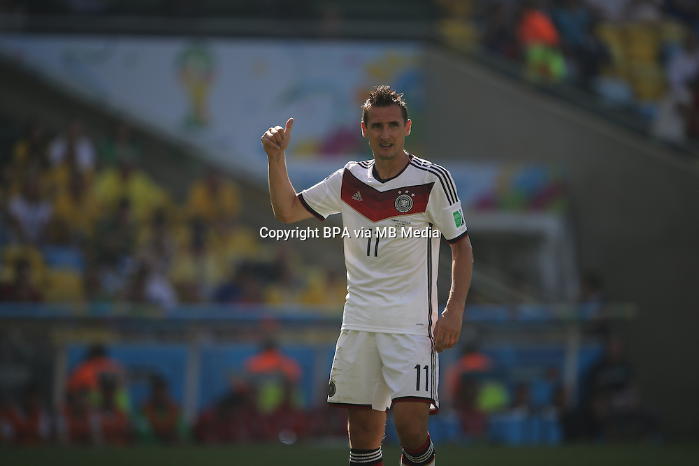 Miroslav Klose. France v Germany, quarter-final. FIFA World Cup Brazil 2014. 4 July 2014