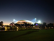 Adelaide Oval arena all lit up for a game