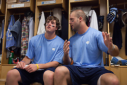 26 April 2009: North Carolina Tar Heels defenseman Charlie McComas (45) and defenseman Jack Ryan (32) during a 15-13 loss to the Duke Blue Devils during the ACC Championship at Kenan Stadium in Chapel Hill, NC.
