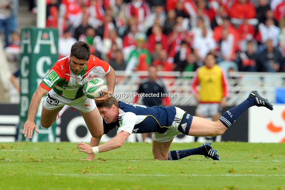 Rugby: Biarritz / Munster - 1/2Finale H Cup - 02.05.2010 - duel Dimitri Yachvili / Ronan O Gara
