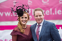 Repro Free. Triona Barrett, General Manager of the g Hotel and Michael Moloney, General Manager of the Galway Races at the g Hotel Best Dressed competitions at the Galway Races. Photo: Andrew Downes, xposure