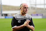 Portsmouth manager Paul Cook during the Sky Bet League 2 match between Northampton Town and Portsmouth at Sixfields Stadium, Northampton, England on 19 December 2015. Photo by Dennis Goodwin.