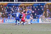 Ryan Sweeney defender for AFC Wimbledon (20) in action during the Sky Bet League 2 match between AFC Wimbledon and Accrington Stanley at the Cherry Red Records Stadium, Kingston, England on 5 March 2016. Photo by Stuart Butcher.