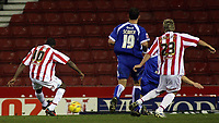 Photo: Paul Thomas.<br /> Stoke City v Cardiff City. Coca Cola Championship. 28/11/2006.<br /> <br /> Ricardo Fuller (10) scores for Stoke.