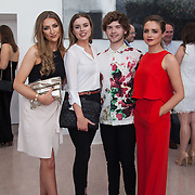 13.05.2016.           <br /> Aoife Sullva, West Meath, Rebecca McDermott, Youhal Co. Cork, Aran Crotty, Clonmel and Katie Deegan, West Meath pictured at the much anticipated Limerick School of Art & Design, LIT, (LSAD) Graduate Fashion Show on Thursday 12th May 2016. The show took place at the LSAD Gallery where 27 graduates from the largest fashion degree programme in Ireland showcased their creations. Ranked among the world's top 50 fashion colleges, Limerick School of Art and Design is continuing to mould future Irish designers.. Picture: Alan Place/Fusionshooters