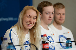 February 8, 2018 - Pyeonchang, Republic of Korea - LAURA TOIVANEN of the Finnish biathlon team at a press conference prior to the start of the 2018 Olympic Games (Credit Image: © Christopher Levy via ZUMA Wire)