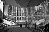 Confusing reflections at Alice Tully Hall in Lincoln Center