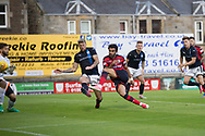 Raith&rsquo;s former Dee Iain Davidson can't stop Dundee new boy Sofien Moussa scoring on his debut - Raith Rovers v Dundee, Betfred Cup at Starks Park, Kirkcaldy, Photo: David Young<br /> <br />  - &copy; David Young - www.davidyoungphoto.co.uk - email: davidyoungphoto@gmail.com