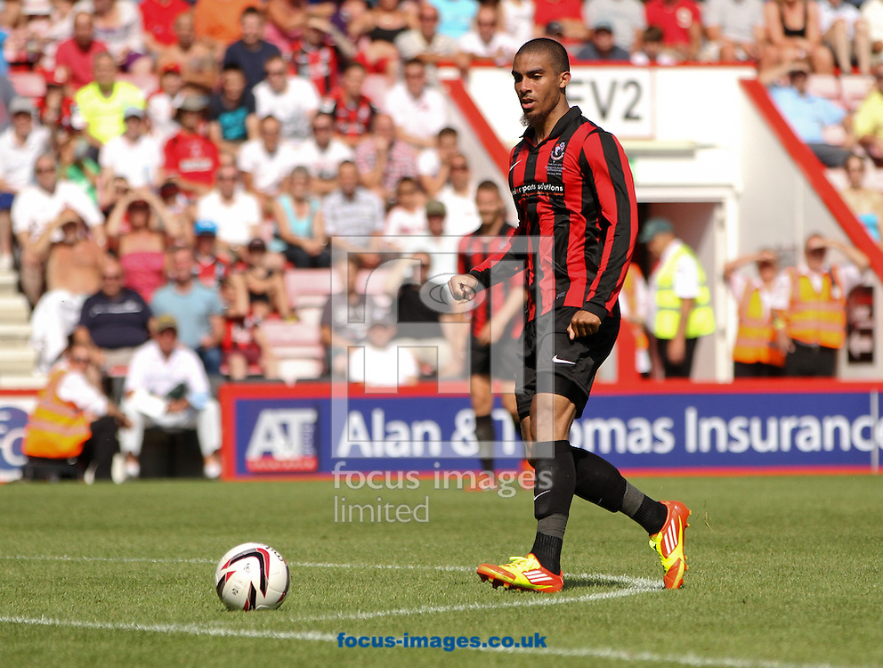 Picture by Tom Smith/Focus Images Ltd 07545141164<br /> 13/07/2013<br /> Lewis Grabban of Bournemouth during the Stephen Purches testimonial pre season friendly match at the Seward Stadium, Bournemouth.