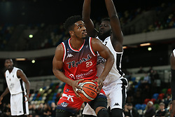 Marcus Delpeche of Bristol Flyers looking for a way through - Photo mandatory by-line: Arron Gent/JMP - 20/11/2019 - BASKETBALL - Copper Box Arena - London, England - London Lions v Bristol Flyers - British Basketball League Cup