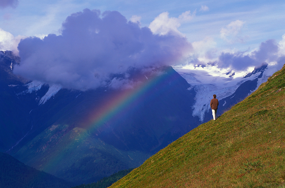 Chugach Mountains at The Alyeska Prince Hotel, Girdwood, Alaska, USA
