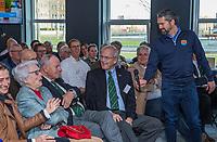 UTRECHT -  Lout Mangelaar Meertens met oa Rolf Olland, Alexander Renders  , Rolf Olland,  Algemene Ledenvergadering van de Nederlandse Golf Federatie NGF.   COPYRIGHT KOEN SUYK