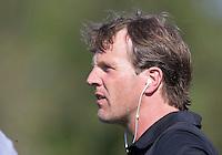 AMSTELVEEN -  coach Dirk Loots (A'dam).     Beslissende finalewedstrijd om het Nederlands kampioenschap hockey tussen de mannen van Amsterdam en Oranje Zwart (2-3).   COPYRIGHT KOEN SUYK