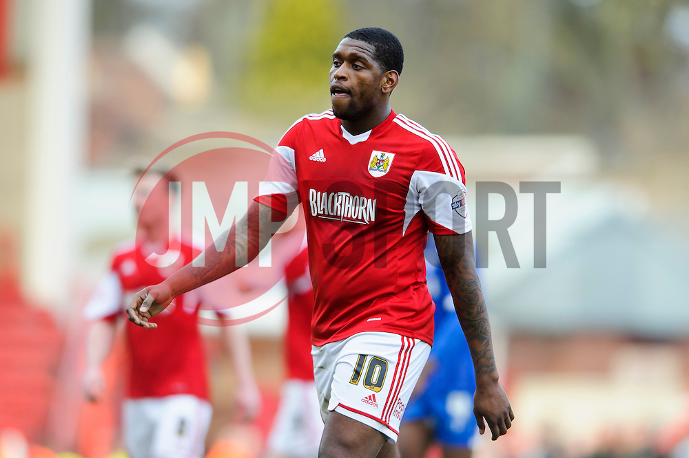 Bristol City Midfielder Jay Emmanuel-Thomas (ENG) looks on - Photo mandatory by-line: Rogan Thomson/JMP - 07966 386802 - 01/03/2014 - SPORT - FOOTBALL - Ashton Gate, Bristol - Bristol City v Gillingham - Sky Bet League One.