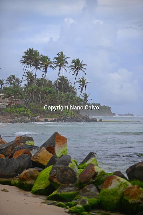 Coast of Ahangama, Sri Lanka
