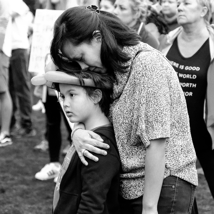 Jeni Richard holds her son Liam Richard during The March For Our Lives Demonstration on March 24, 2018 in Nashville Tennessee