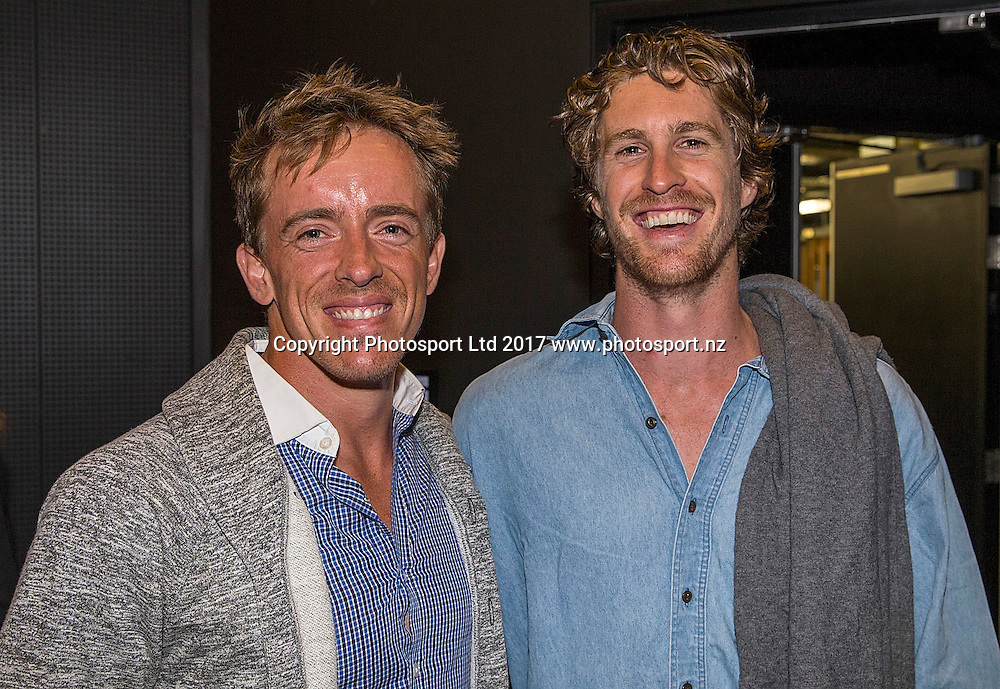 Rubin Statham (L) and Marcus Daniell at the New Zealand Tennis Awards, ASB North Wharf, Auckland, New Zealand, Saturday, January 07, 2017. Copyright photo: David Rowland / www.photosport.nz