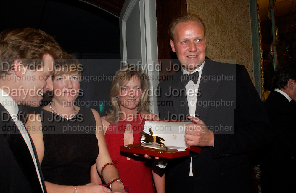 the hon Peter and Mrs. Stanley, Mr. and Mrs. Ed Dunlop, The 2004 Cartier Racing awards, Four Seasons Hotel. London. 17 November 2004. ONE TIME USE ONLY - DO NOT ARCHIVE  © Copyright Photograph by Dafydd Jones 66 Stockwell Park Rd. London SW9 0DA Tel 020 7733 0108 www.dafjones.com