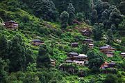 A Himalayan village near Barshani in  Parvati valley in Kullu, Himachal Pradesh, India