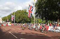 Prudential RideLondon Grand Prix Pro Womens race along The Mall<br /> Prudential RideLondon, the world's greatest festival of cycling, involving 70,000+ cyclists – from Olympic champions to a free family fun ride - riding in five events over closed roads in London and Surrey over the weekend of 9th and 10th August. <br /> <br /> Photo: Roger Allen for Prudential RideLondon<br /> Saturday 9th August 2014<br /> <br /> See www.PrudentialRideLondon.co.uk for more.<br /> <br /> For further information: Penny Dain 07799 170433<br /> pennyd@ridelondon.co.uk
