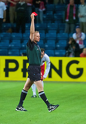 OSLO, NORWAY - Wednesday, September 5, 2001: Referee Frits Stuchlik from Austria shows Ryan Giggs the red card during the FIFA World Cup 2002 Qualifying Group 5 match against Norway at the Ullevaal Stadion. (Pic by David Rawcliffe/Propaganda)