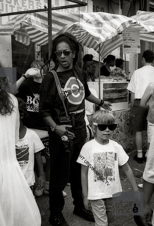 Don Letts and Elliott at Carnival 1981