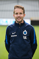 Club's team manager Devy Rigaux poses for the photographer during the 2015-2016 season photo shoot of Belgian first league soccer team Club Brugge, Friday 17 July 2015 in Brugge