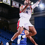Delaware 87ers Guard JULIAN JACOBS (4) drive to the basket in the first half of a NBA G-league regular season basketball game between the Delaware 87ers and the Westchester Knicks (New York Knicks) Tuesday, Nov. 07, 2017, at The Bob Carpenter Sports Convocation Center in Newark, DEL