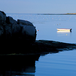 Great Wass Island, ME. A dinghy in Black Duck Cove on Great Wass Island in Down East Maine.