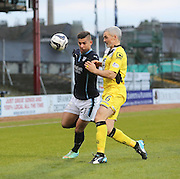 Dundee's Luka Tankulic and St Mirren's Jim Goodwin - Dundee v St Mirren, SPFL Premiership at <br /> Dens Park<br /> <br />  - &copy; David Young - www.davidyoungphoto.co.uk - email: davidyoungphoto@gmail.com