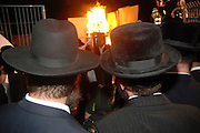 Israel, Galilee, Mount Meron, Jews praying during the lag b'omer celebrations at mount Meron. Lag B'Omer is a day for bonfire celebrations. The most famous is held at the village of Meron, near the northern city of Safed. May 2009