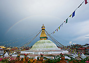 Bodhnath Stupa, religious centre for Tibetan exiles living in Nepal (Kathmandu, Nepal).