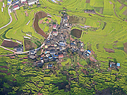 YIBIN, CHINA - FEBRUARY 18: (CHINA OUT)<br /> <br /> Rape Flowers Bloom<br /> <br />  Aerial view image shows rape flowers blooming in Zhongdu Town of Pingshan Coubnty on February 18, 2016 in Yibin, Sichuan Province of China. The rape flowers in Sichuan\'s Yibin City has entered into best blooming season in February. <br /> ©Exclusivepix Media