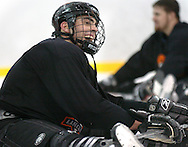 1/4/07 -- Omaha, NE<br />  -- USHL player Nick Petreck at practice <br /> <br /> Photo by Chris Machian, Prairie Pixel Group