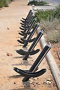 Empty Bicycle rack