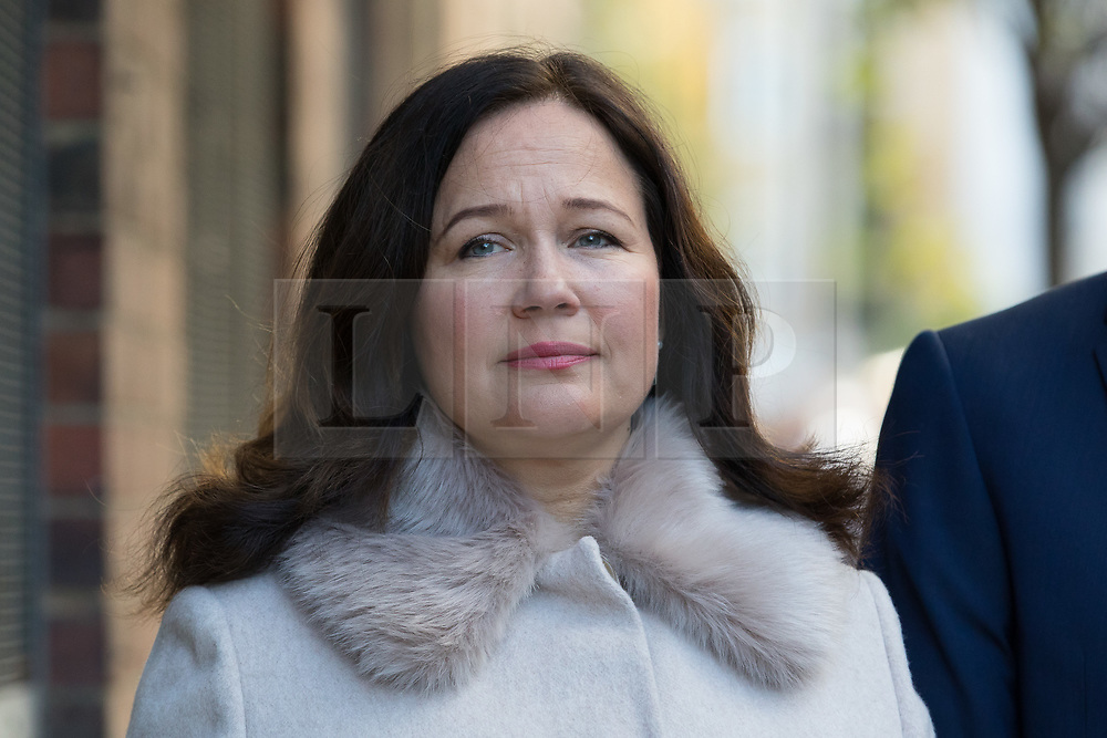 © Licensed to London News Pictures. 28/09/2018. London, UK.  Nadim Ednan-Laperouse's wife Tanya arrives at West London Coroner's Court this morning for the inquest into the death of Natasha Ednan-Laperouse. Natasha Ednan-Laperouse, aged 15, died on a British Airways flight to from London to Niece, when she fell ill after eating a Pret a Manger sandwich believed to contain sesame.  Photo credit: Vickie Flores/LNP