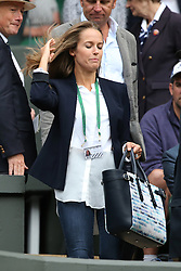 © London News Pictures. Kim Murray arrives in centre court to watch her husband Andrew Murray (GB) play Vasek Pospisil (CAN) in the men's Wimbledon Tennis Championships today. 07.07.2015. Photo credit: LNP