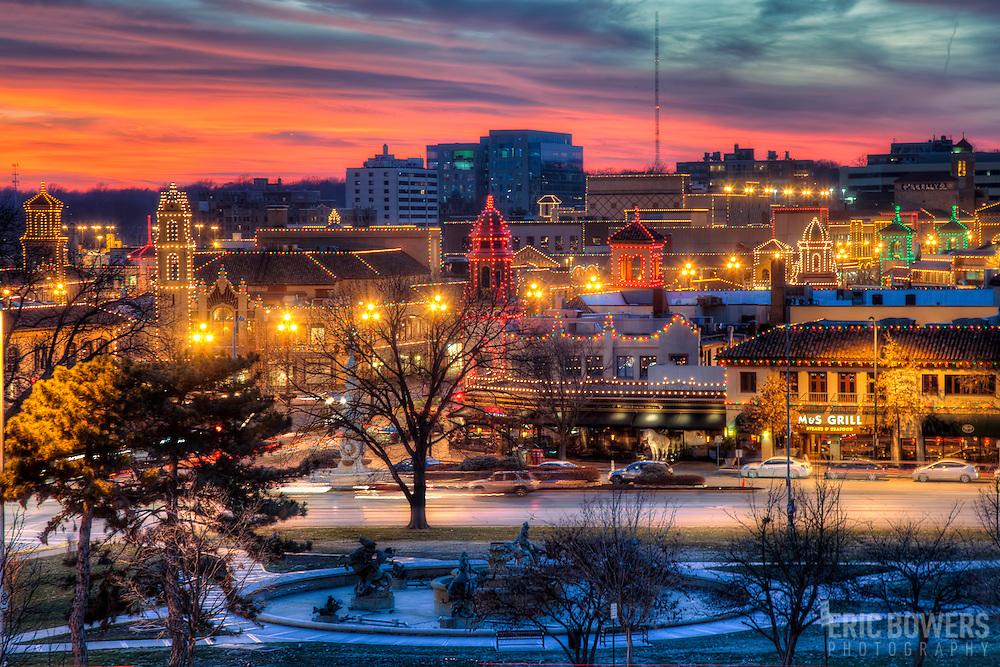 Kansas City's Plaza Lights at Sunset | Eric Bowers Photo
