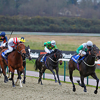 Teophilip and Andrea Atzeni winning the 2.55 race
