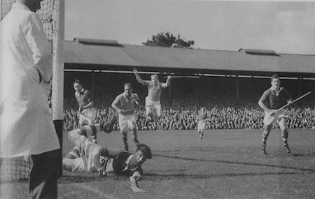 Dave Creedon makes another fine save in the 1952 final against Dublin.