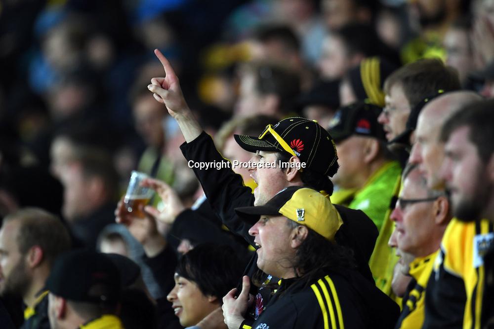 Fans during the Hyundai A-League, Wellington Phoenix vs Central Coast Mariners, Westpac Stadium, Wellington, Saturday 14th January 2017. Copyright Photo: Raghavan Venugopal / www.photosport.nz