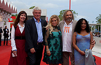 Diane Weyermann, Heino Deckert, Sigrid Dyekjaer, Director Victor Kossakovsky and Aimara Reques at the premiere gala screening of the film Aquarela at the 75th Venice Film Festival, Sala Grande on Saturday 1st September 2018, Venice Lido, Italy.