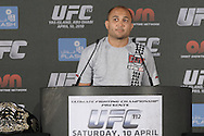 "ABU DHABI, UNITED ARAB EMIRATES, APRIL 7, 2010: BJ Penn is pictured during the pre-fight press conference for ""UFC 112: Invincible"" at the Rotana Hotel in Abu Dhabi on April 7, 2010. (Martin McNeil)"
