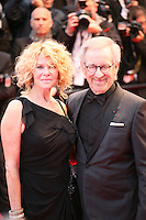 Steven Spielberg and Kate Capshaw at the red carpet for the gala screening of Jimmy P. Psychotherapy of a Plains Indian film at the Cannes Film Festival 18th May 2013