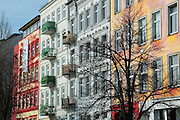 Häuser St. Pauli Hafenstrasse, St. Pauli, Hamburger Hafen, Hamburg, Deutschland.|.houses in St. Pauli Hafen street, St. Pauli, Hamburg, Germany